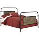 Trinell Full Metal Bed in Warm Rustic Oak B446-72