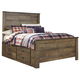 Trinell Full Panel with Underbed Storage and Rails Bed in Warm Rustic Oak B446SR-FULL