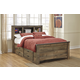 Trinell Full Bookcase with Underbed Storage in Warm Rustic Oak B446-65FULL
