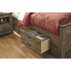 Trinell Underbed Storage with Side Rail in Warm Rustic Oak B446-50 CLEARANCE