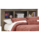 Trinell Full Bookcase Headboard in Warm Rustic Oak B446-65