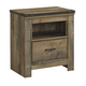 Trinell 1 Drawer Nightstand in Warm Rustic Oak B446-91