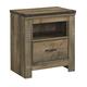 Trinell 1 Drawer Nightstand in Warm Rustic Oak B446-91