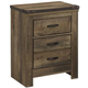 Trinell 2 Drawer Nightstand in Warm Rustic Oak B446-92 CLEARANCE