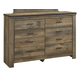 Trinell Youth Dresser in Warm Rustic Oak B446-21