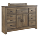 Trinell Youth Dresser with Fireplace Option in Warm Rustic Oak B446-32