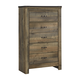 Trinell 5 Drawer Chest in Warm Rustic Oak B446-46