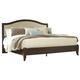 Corraya King Upholstered Panel Bed in Medium Brown B428-KING