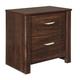 Corraya 2 Drawer Nightstand in Medium Brown B428-92 CLEARANCE