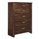 Corraya 5 Drawer Chest in Medium Brown B428-46