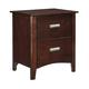 Dirmack 2 Drawer Nightstand in Medium Brown B470-92