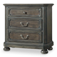 Hooker Furniture Vintage West Three-Drawer Nightstand in Dark Charcoal 5700-90016