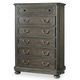 Hooker Furniture Vintage West Six-Drawer Chest in Dark Charcoal 5700-90010