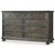 Hooker Furniture Vintage West Nine-Drawer Dresser in Dark Charcoal 5700-90002