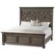 Hooker Furniture Vintage West King Wood Panel Bed in Dark Charcoal 5700-90266