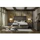Hooker Furniture Vintage West 4-Piece Wood Panel Bedroom Set in Dark Charcoal