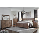 Tamilo 4-Piece Panel Bedroom Set in Grayish Brown