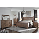 Tamilo 4-Piece Poster Bedroom Set in Grayish Brown