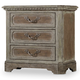Hooker Furniture True Vintage Three-Drawer Nightstand in Light Wood 5701-90016