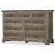 Hooker Furniture True Vintage Nine-Drawer Dresser in Light Wood 5701-90002