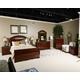 Fairbrooks Estate 4-Piece Sleigh Bedroom Set in Reddish Brown