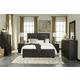 Tadlyn 4-Piece Upholstered Panel Bedroom Set in Dark Brown