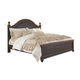 Maxington King Panel Bed in Black/Reddish Brown