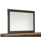 Maxington Bedroom Mirror in Black/Reddish Brown B220-36