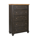 Maxington 5 Drawer Chest in Black/Reddish Brown B220-46