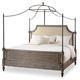 Hooker Furniture True Vintage King Upholstered Canopy Bed-Fabric in Light Wood 5701-90166