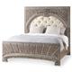 Hooker Furniture True Vintage King Upholstered Panel Bed in Light Wood 5701-90866