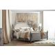 Hooker Furniture True Vintage 4-Piece Upholstered Poster Bedroom Set in Light Wood