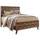 Debeaux Queen Panel Bed in Medium Brown
