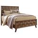 Debeaux King Panel Bed in Medium Brown