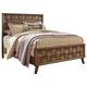 Debeaux California King Panel Bed in Medium Brown