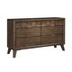 Debeaux 6 Drawer Dresser in Medium Brown B535-31