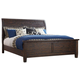 Trudell California King Panel Bed in Dark Brown