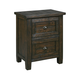 Trudell 2 Drawer Nightstand in Dark Brown B658-92