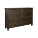 Trudell 6 Drawer Dresser in Dark Brown B658-31