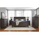 Trudell 4-Piece Panel Bedroom Set in Dark Brown
