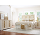Legacy Classic Tower Suite 4-Piece Panel Bedroom Set in Pearl