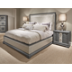 Legacy Classic Tower Suite 4-Piece Upholstered Bedroom Set in Moonstone