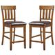Ralene Upholstered Bar Stool in Medium Brown (Set of 2) D594-124