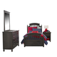 Legacy Classic Kids Academy 4-Piece Panel Bedroom Set in Molasses