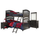Legacy Classic Kids Academy 4-Piece Bunk Bedroom Set in Molasses