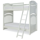 Legacy Classic Kids Academy Twin Over Twin Bunk Bed in White 5811-8110K