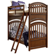 Legacy Classic Kids Academy Twin Over Twin Bunk Bed in Cinnamon 5812-8110K