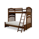 Legacy Classic Kids Academy Twin Over Full Bunk Bed in Cinnamon 5812-8140K