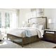 Universal Furniture Playlist Harmony 4-Piece Upholstered Storage Bedroom Set in Brown Eyed Girl
