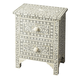 Butler Bone Inlay Vivienne Accent Chest in White/Grey 2865321